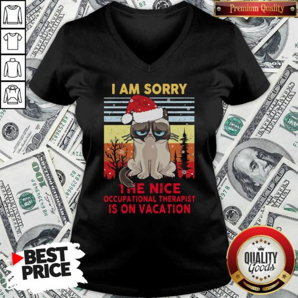 I Am Sorry The Nice Occupational Therapist Is On Vacation V-neck - Design By Waretees.com