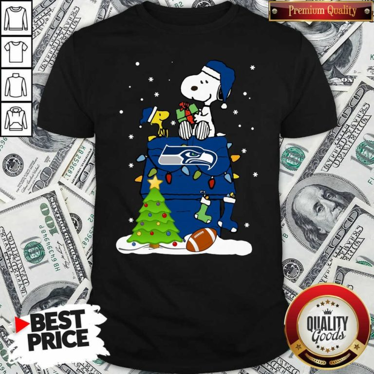 Snoopy Merry Christmas NFL Seahawks Unisex T-Shirt - Design By Waretees.com
