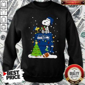 Snoopy Merry Christmas NFL Seahawks Unisex Sweatshirt - Design By Waretees.com