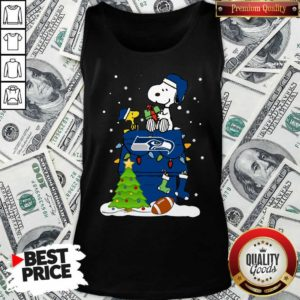 Snoopy Merry Christmas NFL Seahawks Unisex Tank Top - Design By Waretees.com