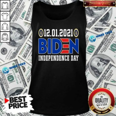12.01.2021 Biden Independence Day Tank-Top- Design by Waretees.com