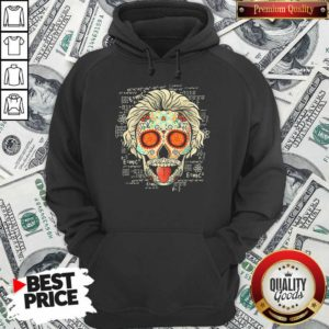 Einstein Scientist Skugar Skull Hoodie - Design By Waretees.com