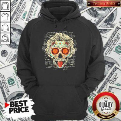 Einstein Scientist Skugar Skull Hoodie - Design By Waretees.com