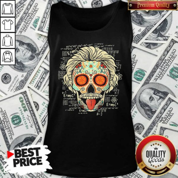 Einstein Scientist Skugar Skull Tank Top - Design By Waretees.com