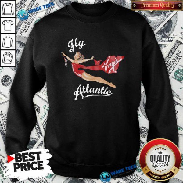 Fly Virgin Atlantic Princess Diana Sweatshirt- Design by Waretees.com