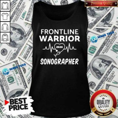 Funny Frontline Warrior 2020 Sonographer Tank Top - Design by Waretees.com