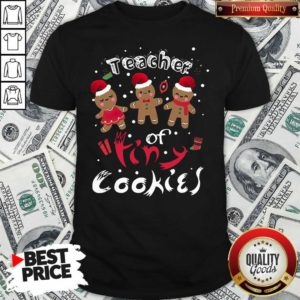 Gingerbeard Teacher Of Tiny Cookies Christmas Shirt - Design By Waretees.com