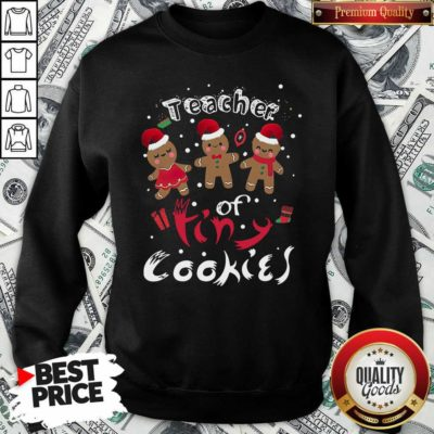Gingerbeard Teacher Of Tiny Cookies Christmas Sweatshirt - Design By Waretees.com