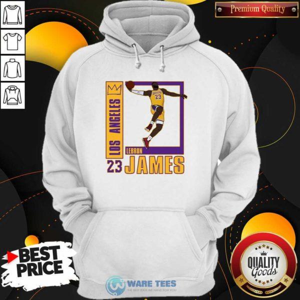 Los Angeles Lakers Lebron James 23 Hoodie- Design by Waretees.com