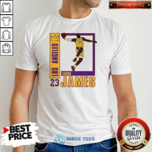 Los Angeles Lakers Lebron James 23 Shirt- Design by Waretees.com