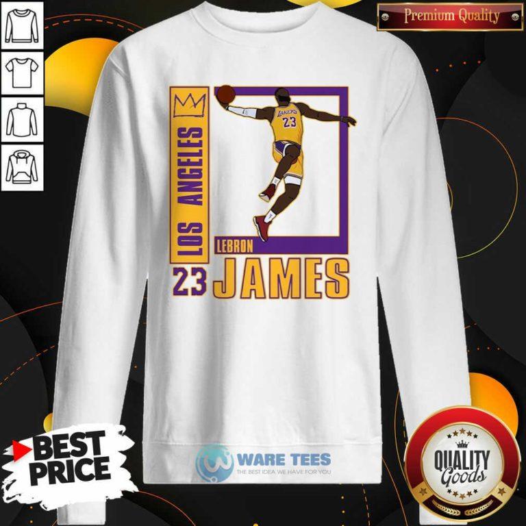 Los Angeles Lakers Lebron James 23 Sweatshirt- Design by Waretees.com