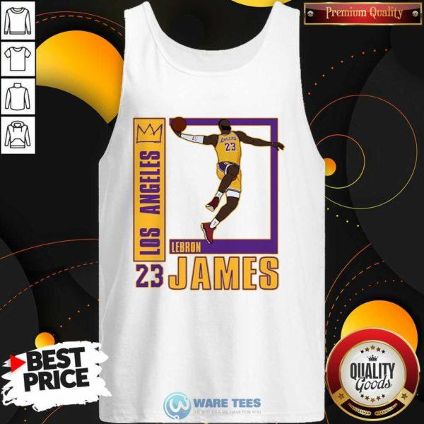 Los Angeles Lakers Lebron James 23 Tank-Top Design by Waretees.com