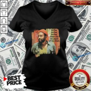 Marvin Gaye Brother There's Far Too Many Of You Dying V-neck- Design by Waretees.com