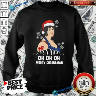 Funny Nessa Jenkins Oh Oh Oh Merry Christmas Sweatshirt - Design by Waretees.com