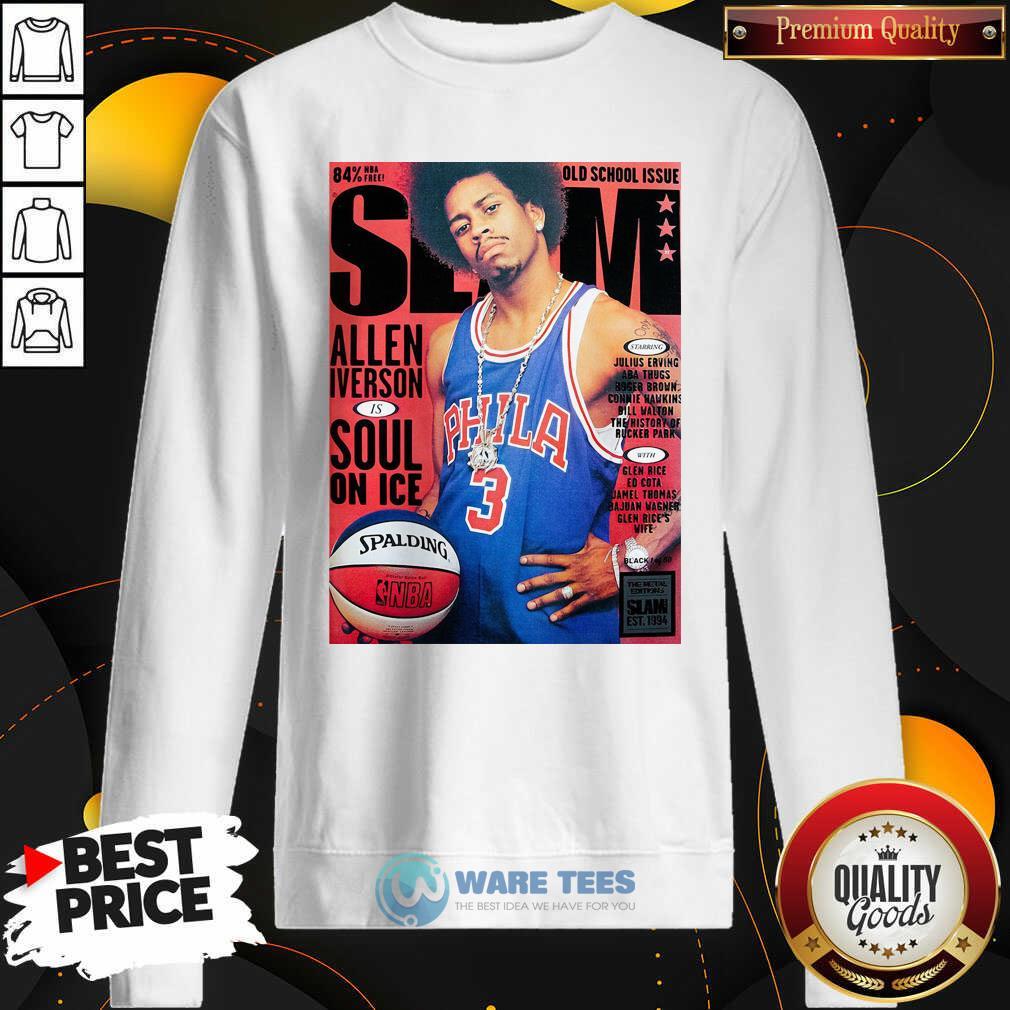 Old School Issue Slam Allen Iverson Soul On Ice Sweatshirt- Design by Waretees.com