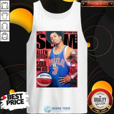 Old School Issue Slam Allen Iverson Soul On Ice Tank-Top- Design by Waretees.com