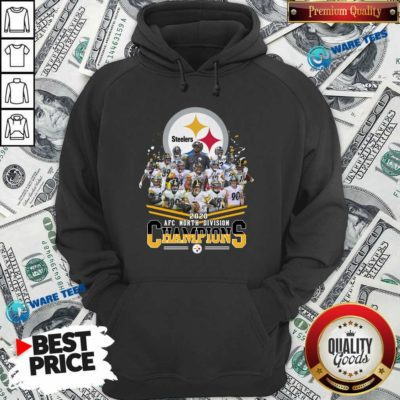Pittsburgh Steelers 2020 Afc North Division Champions Signatures Tee Hoodie- Design By Waretees.com