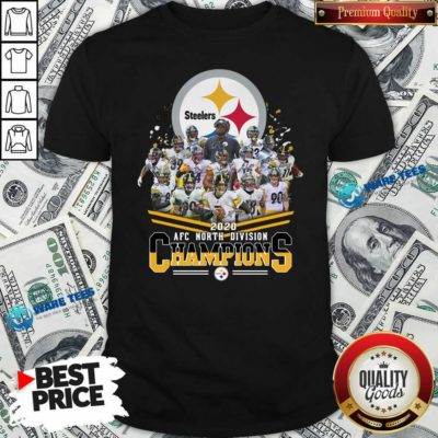 Pittsburgh Steelers 2020 Afc North Division Champions Signatures Tee Shirt- Design By Waretees.com