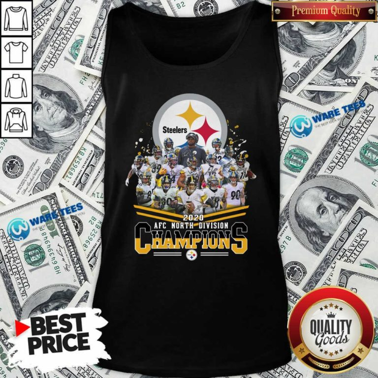 Pittsburgh Steelers 2020 Afc North Division Champions Signatures Tee Tank-Top- Design By Waretees.com