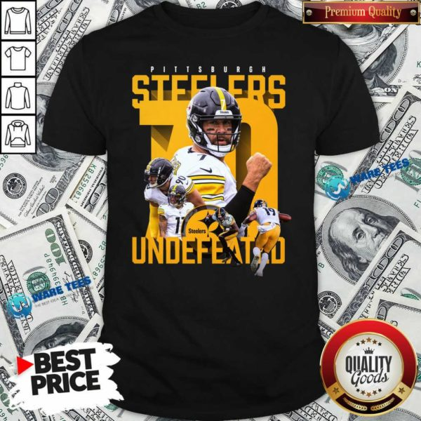 Pittsburgh Steelers Undefeated 70 Shirt- Design by Waretees.com