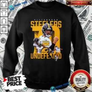 Pittsburgh Steelers Undefeated 70 Sweatshirt- Design by Waretees.com