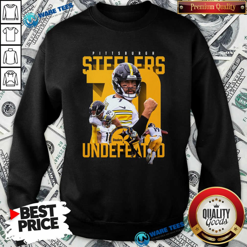 Pittsburgh Steelers Undefeated 70 Sweatshirt- Design by Waretees.com