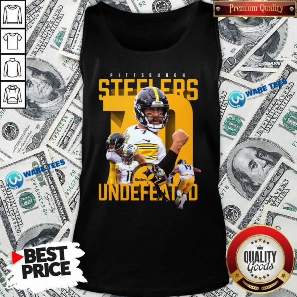 Pittsburgh Steelers Undefeated 70 Tank-Top- Design by Waretees.com