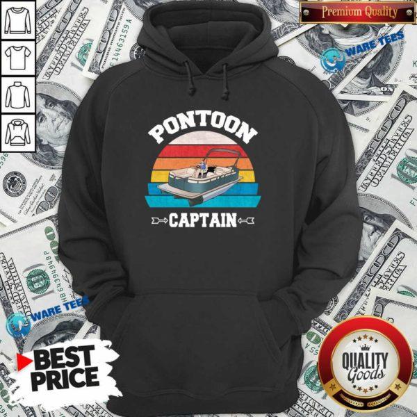 Pontoon Boat Christmas Vintage Hoodie- Design by Waretees.com