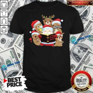 Santa And Sloth Reindeer The Night Before Christmas Shirt- Design by Waretees.com