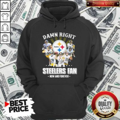 Funny So Damn Right I Am A Pittsburgh Steelers Fan Now And Forever Signature Hoodie - Design by Waretees.com