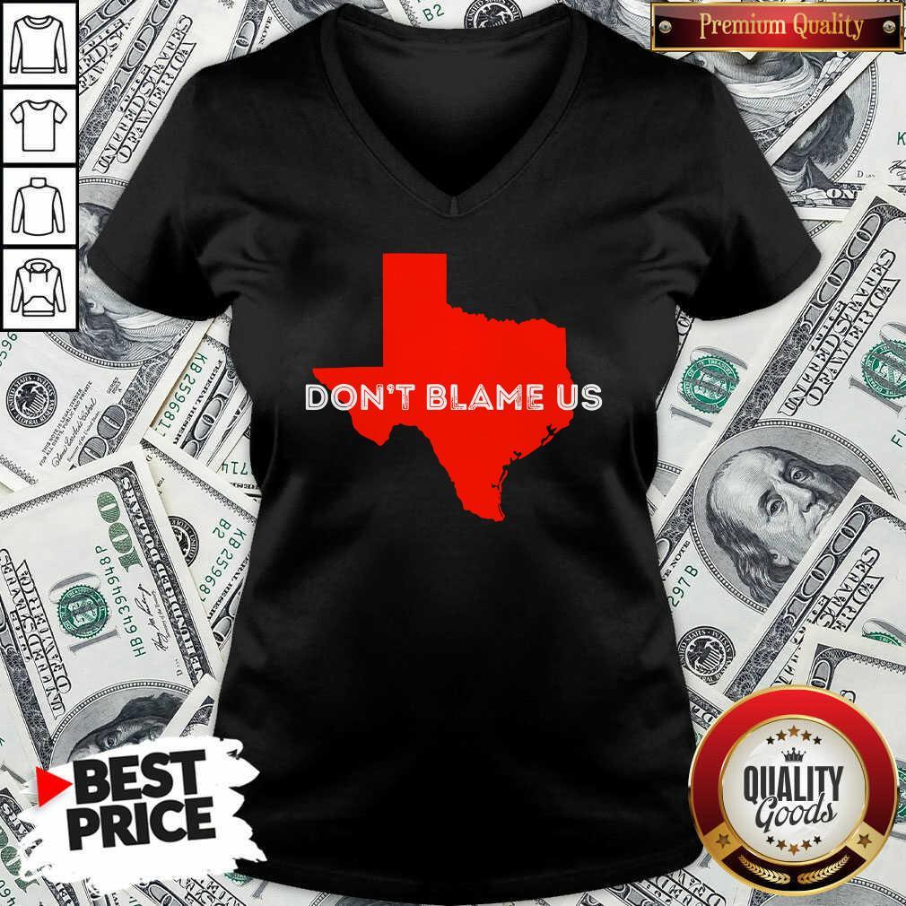 Texas Don't Blame Us Republican Vote 2020 Election V-neck - Design By Waretees.com