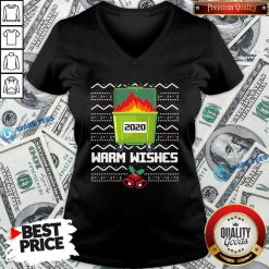 Good 2020 Dumpster Fire Warm Wishes – Ugly Christmas V-neck - Design by Waretees.com