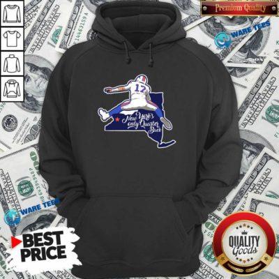 Buffalo Bills Josh Allen New York's Only Quarterback Hoodie- Design by Waretees.com