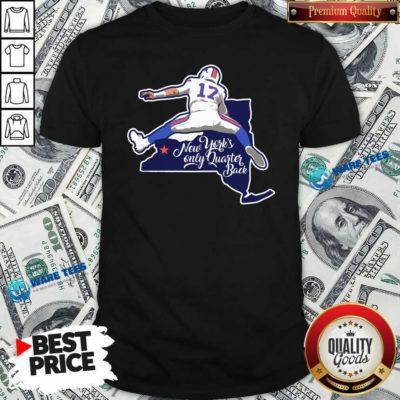Buffalo Bills Josh Allen New York's Only Quarterback Shirt- Design by Waretees.com