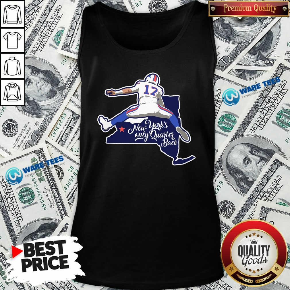 Buffalo Bills Josh Allen New York's Only Quarterback Tank-Top- Design by Waretees.com