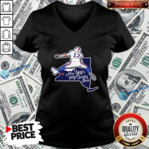 Buffalo Bills Josh Allen New York's Only Quarterback V-neck- Design by Waretees.com