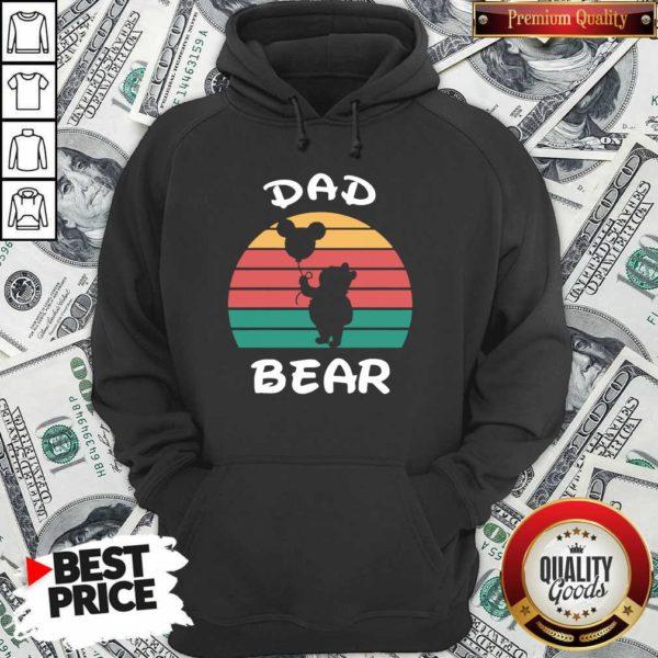 Dad Bear Disney Vintage Retro Hoodie - Design By Waretees.com