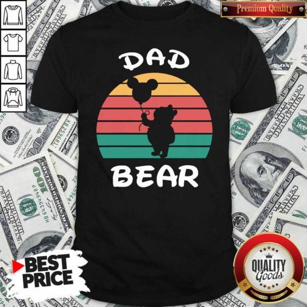Dad Bear Disney Vintage Retro Shirt - Design By Waretees.com