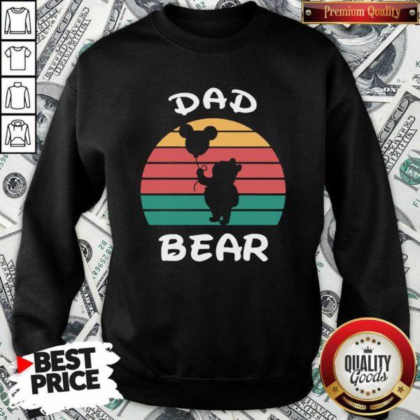 Dad Bear Disney Vintage Retro Sweatshirt - Design By Waretees.com
