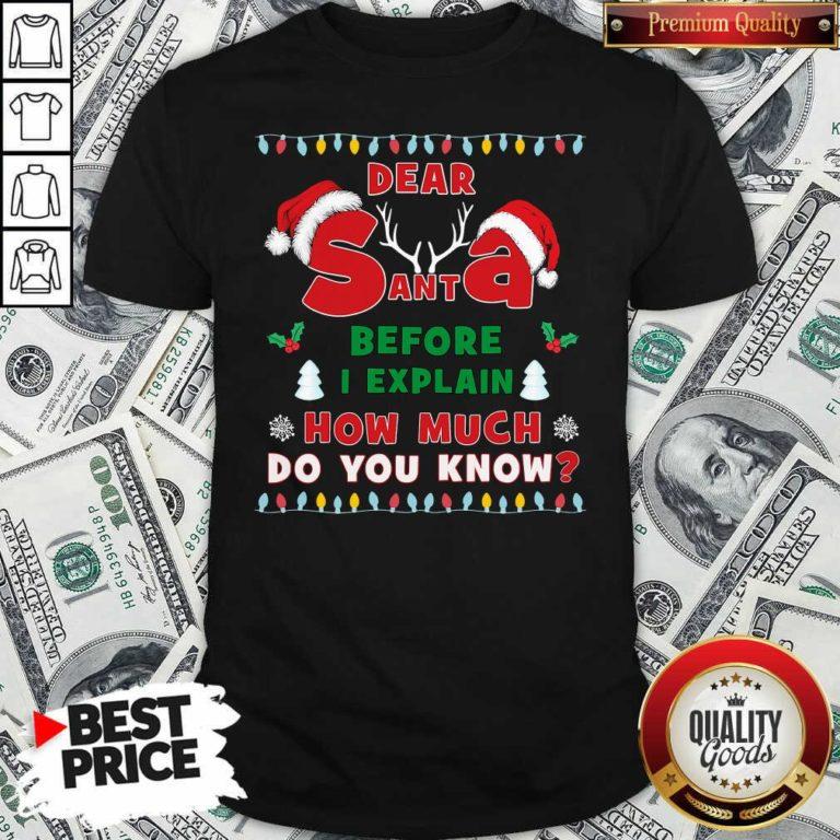 Dear Santa Before I Explain How Much Do You Know Christmas Shirt - Design By Waretees.com
