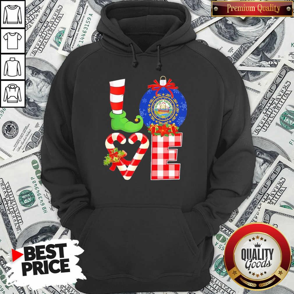 Elf Love Seal Of The State Of Hampshire 1776 Christmas Hoodie - Design By Waretees.com