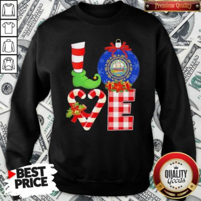 Elf Love Seal Of The State Of Hampshire 1776 Christmas Sweatshirt - Design By Waretees.com