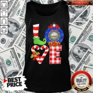 Elf Love Seal Of The State Of Hampshire 1776 Christmas Tank Top - Design By Waretees.com