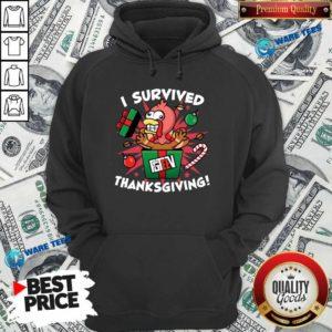 Fgshirtv Merch I Survived Thanksgiving Hoodie- Design by Waretees.com