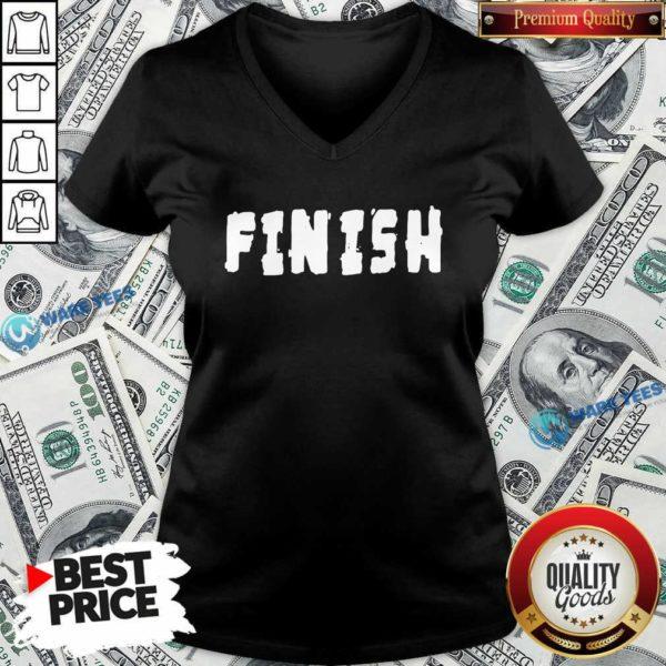Finish Lamar Jackson V-neck- Design by Waretees.com
