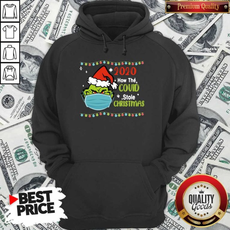 Grinch 2020 How Covid Stole Christmas Hoodie - Design by Waretee.com