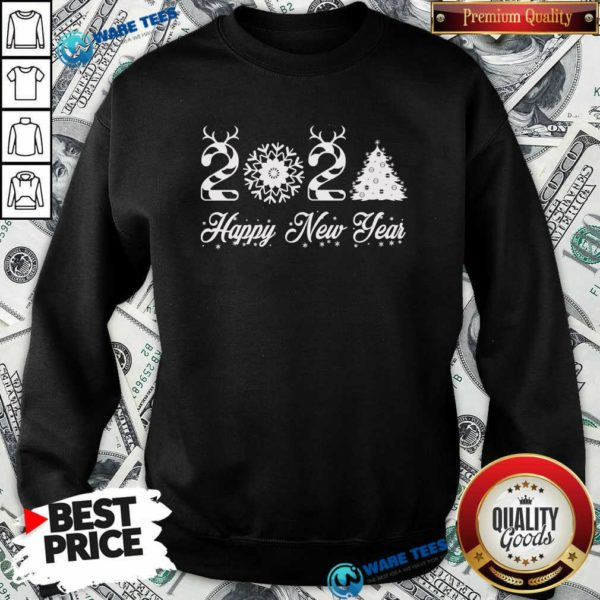 Happy New Year 2021 Christmas Tree Xmas's Sweatshirt- Design by Waretees.com