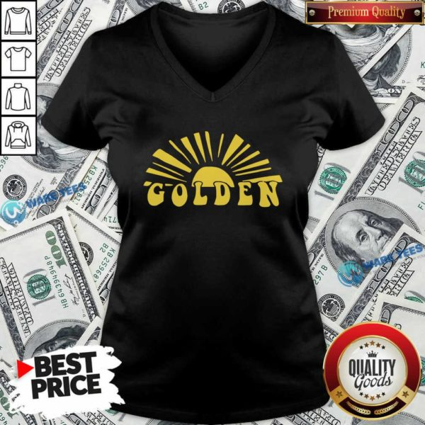 Harry Styles Golden Golden Harry Styles One Direction V-neck- Design by Waretees.com