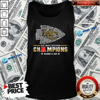 Kansas City Chiefs Afc West Division Champions December 13 2020 Tank-Top- Design by Waretees.com