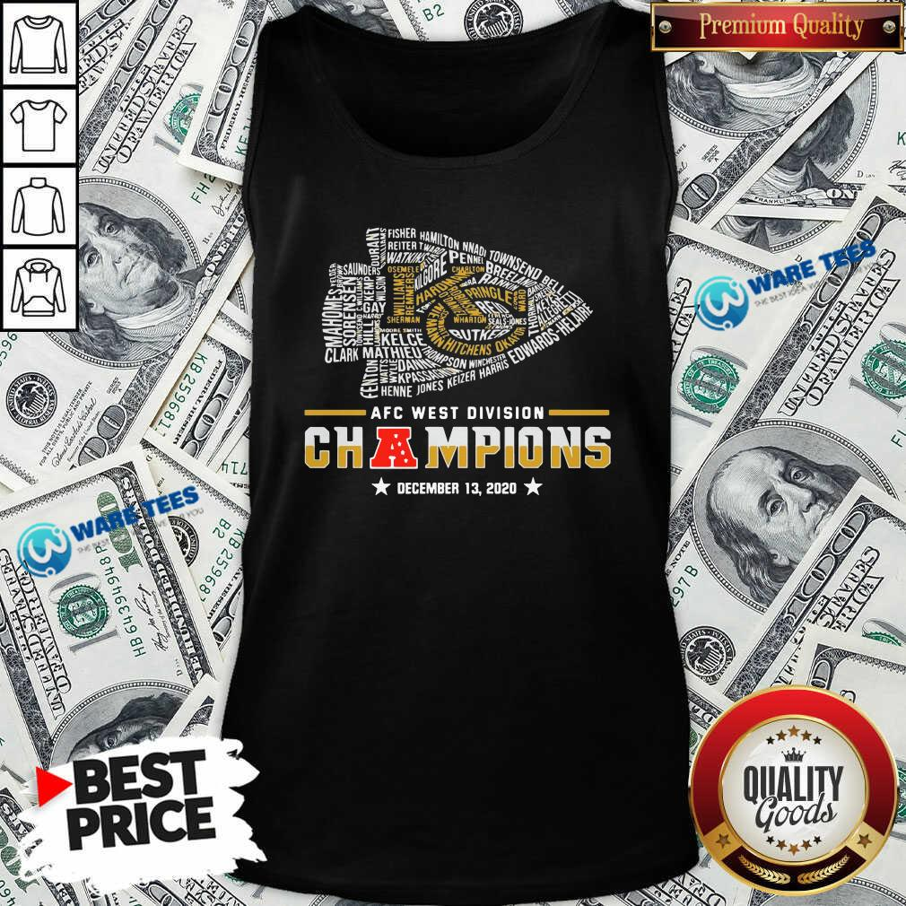 Kansas City Chiefs Afc West Division Champions December 13 2020 Tank-Top- Design by Waretees.com